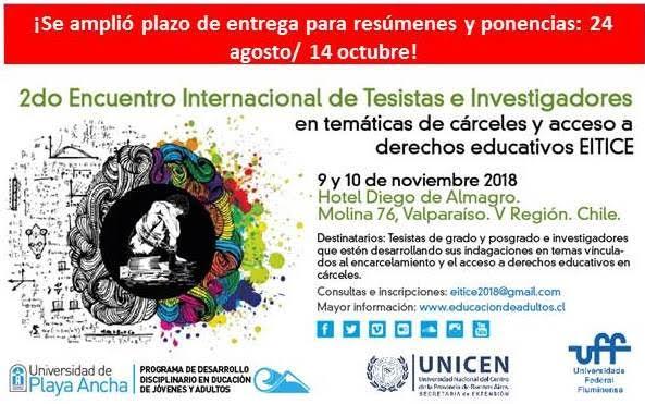 EITICE 2018: AMPLÍAN PLAZO DE ENTREGA DE PONENCIAS Y RESÚMENES