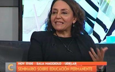 Violeta Acuña (UPLA) y Jorge Camors (UNESCO) dialogaron sobre educación a lo largo de toda la vida en Televisión Nacional Uruguay