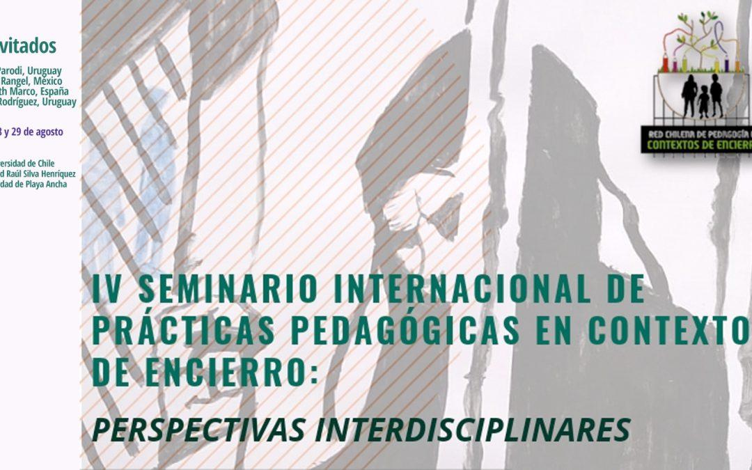 Expertos internacionales participarán en seminario sobre prácticas pedagógicas en contextos de encierro